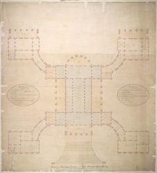 Plan of the principal storey of the New Government House, Calcutta
